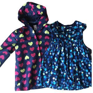 GYMBOREE Lot of 2 Heart Coat Polka Dot Dress 5 EUC